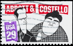 USA Abbott and Costello postage stamp