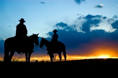 Cowboy silhouette (see others in my portfolio/lghtbox)